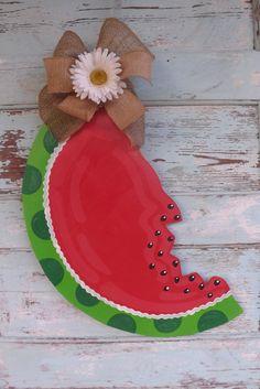 Watermelon Door Hanger Spring Door Hanger by BluePickleDesigns, $40.00