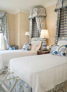 Bedroom: Blue and White