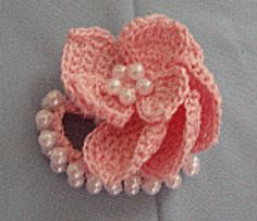 How to make a crochet #flower napkin #ring