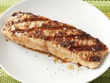 Bobby Flay's Salmon w/ Olive Vinaigrette. One of my favorite ways to make salmon, yum!