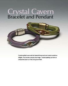 Crystal Cavern Bracelet - Book Review : Beautiful Leather Jewelry - The Beading Gem's Journal