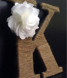 Super easy- wooden letter and twine