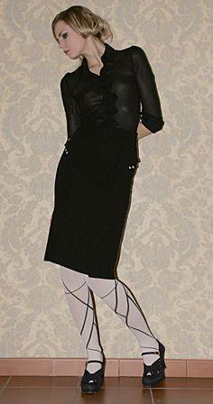 1930s inspired Black Blouse Silk Blouse by LesZiegfeldfollies, $202.00