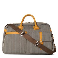 Paul Smith Woven Holdall in Mustard.  The perfect weekender bag!