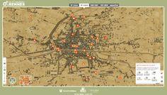 De Condate à Rennes, les métamorphoses d'une ville -Cartes et vues en 3D accueillent de nombreuses informations pour prendre la mesure des transformations de la capitale de la Bretagne au fil du temps