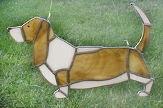 Basset Hound, Handmade Stained Glass by Johnna  $50.00 Plus shipping