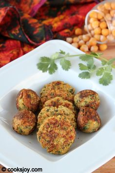 Healthy Zucchini Falafel | Cooks Joy  This a baked falafel recipe.