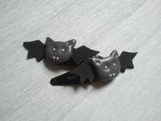 Baby Bat Hairclips  hair clips / goth by GothAndGeekery on Etsy