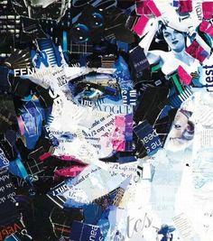 Magazine collage art
