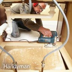 Did a leaky pipe ruin the floor of your sink base cabinet? Here's the smart way to replace it: