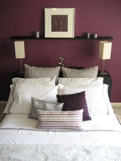 paint color- bedroom accent wall, rest of it grey or tan