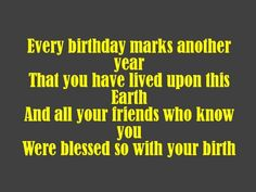 friend birthday, birthday messag, birthday poem