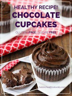 The Best Paleo Chocolate Cupcakes | holistichealthnaturally.com #glutenfree #paleo #lowcarb #sugarfree