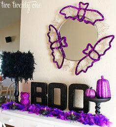 Purple and Black Halloween Vignette