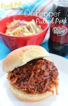 Crock Pot Dr. Pepper Pulled Pork