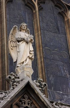 Angel at the Catholic Church in Cambridge