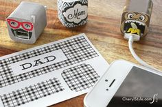 Printable iPhone charger labels - CherylStyle