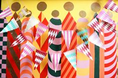 DIY woven paper flag garlands | How About Orange
