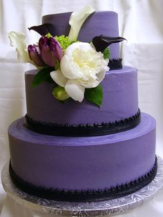 idea, cake wedding, black weddings, dream, purpl cake, plain simpl, purple cakes, cake pictur, purple wedding cakes