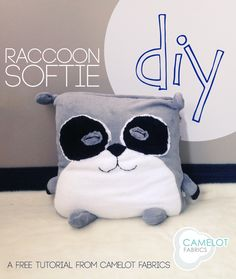 How To's Day: Roonie the Raccoon Tutorial | Camelot Fabrics. Freshly Made