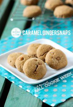 Caramel Gingersnaps // Fall Cookie Week