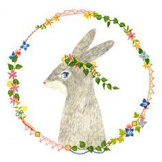 Bunny illustration by aiko fukawa