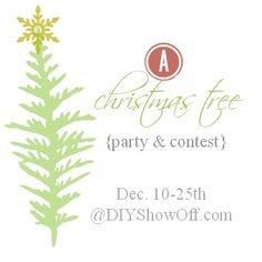 Christmas Tree Link Party & Contest - DIY Show Off ™ - DIY Decorating and Home Improvement Blog