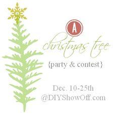 show off, blog hop, parties, tree parti, christma tree, diyshowoff, tree inspir, christmas trees, link parti