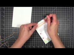 cardmaking video tutorial ... shaker card with sequins inside... washi tape holds it together ... great tips too ...