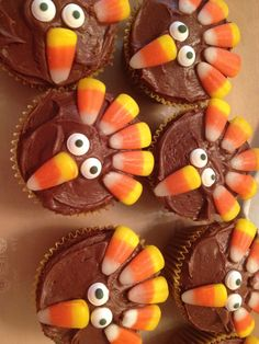 Thanksgiving kids dessert for children who don't like pie. And perfect for my child whose birthday lands on or around turkey day. ;)