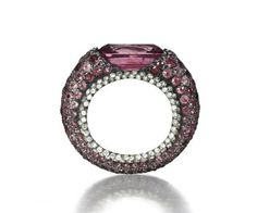 Colored Sapphire and DIamond RIng, JAR