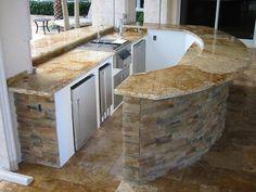 backyard reno, outdoor patio, outdoor bars, column, outdoor kitchens, outdoor kitchen bar, outdoor spaces, garden, granite countertops