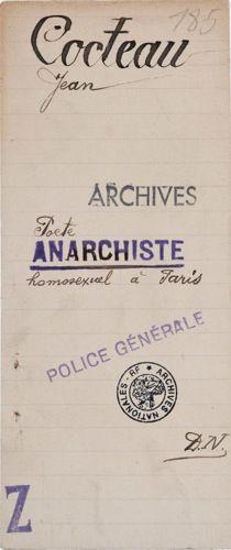poete anarchiste | Cocteau.