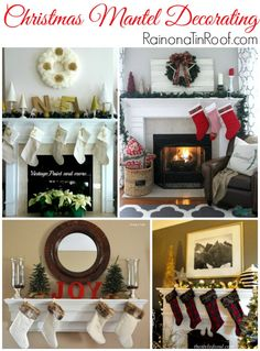 Christmas is one of the best times of the year to decorate your mantel! Here are some great ideas to get you inspired! Christmas Mantel Decorating via RainonaTinRoof.com