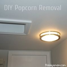 If you have popcorn ceilings, you can actually scrape it off.   36 Genius Ways To Hide The Eyesores In Your Home