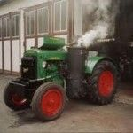 wood gasifier tractor
