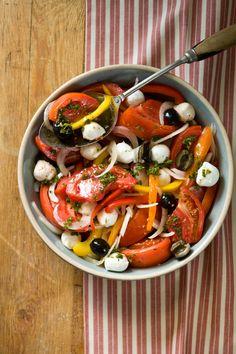 Fresh Marinated Herbed Tomato Salad
