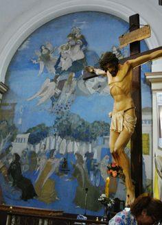 Capilla Santa Ana, frescos de Raúl Soldi, Glew, Buenos Aires, Argentina