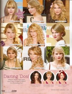 Taylor's hair through the years!