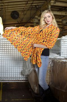 Ravelry: Cascading Shells Crocheted Prayer Shawl pattern by Made in America Yarns