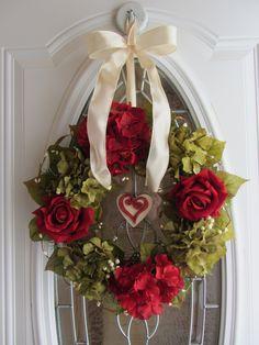 Valentine Wreath - Hydrangea Wreath