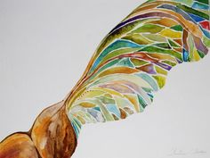 watercolor of a maple seed