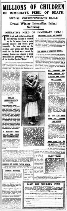 Save the Children Fund. 25 November, 1921