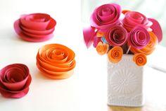 DIY paper flowers #DIY