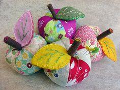 Apple pincushions