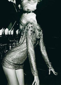 mirrors, new years dress, fashion, champagne, claudia schiffer