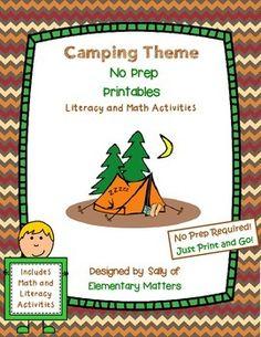 Camping No Prep Printables $