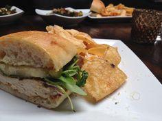 Chicken Sandwich grilled chicken breast   apricot gastrique   arugula ...