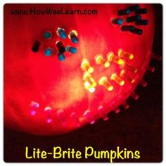 Lite-Brite Pumpkin Carving from How We Learn