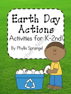Earth Day Action from First Grade Fun! on TeachersNotebook.com (5 pages)